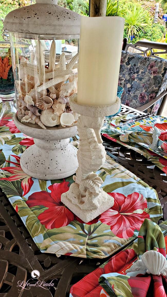 Paysage de table océanique en plein air : la meilleure décoration rustique
