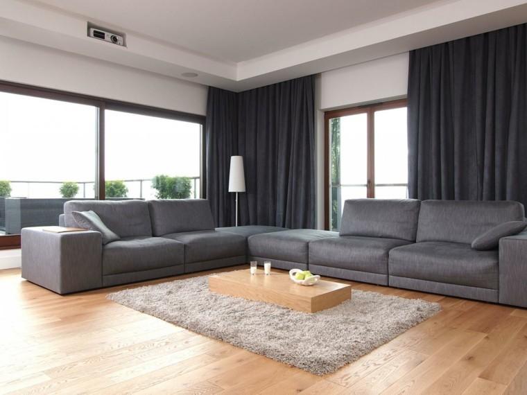 modele canape d'angle salons gris