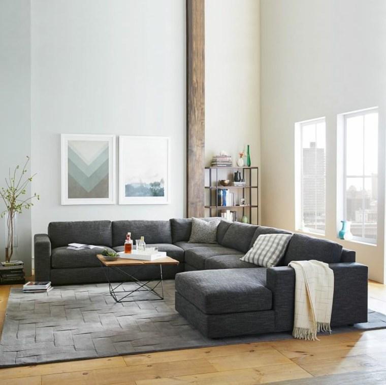 canape moderne sofa gris