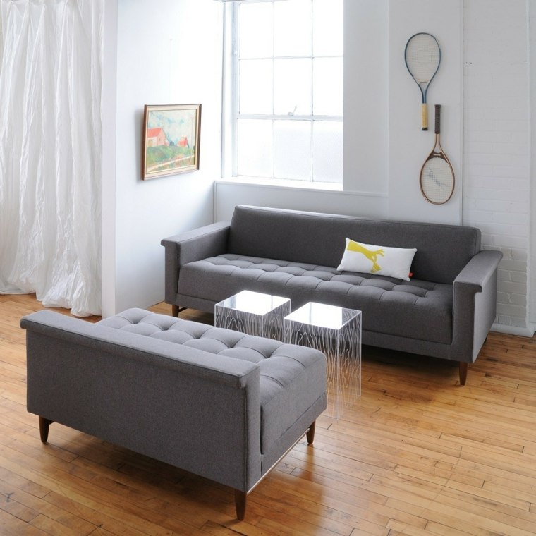 canapes design moderne salon gris