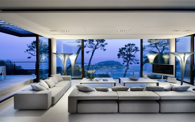 deco style contemporain salons gris