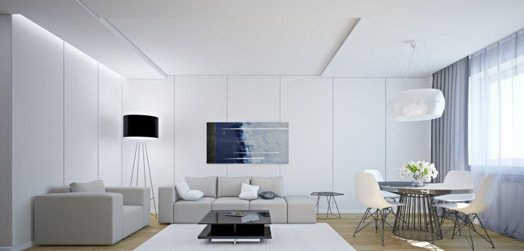 déco moderne salon gris clair