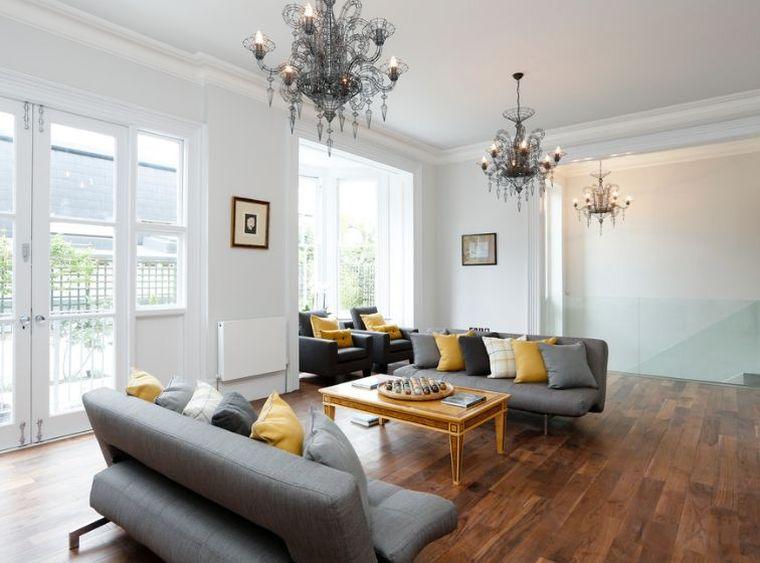 déco moderne sejour-canape-gris-sofa-coussin-jaune