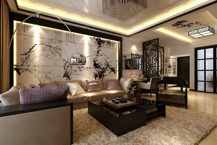 déco muarle salon design luxe
