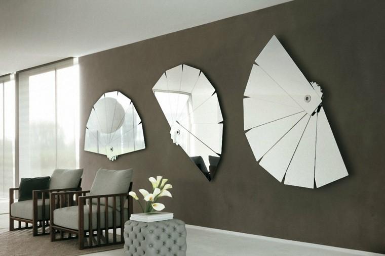 déco murale salon miroirs