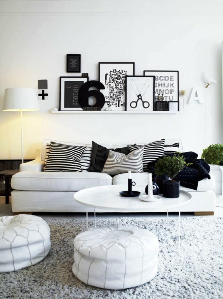 déco murale salon noir blanc