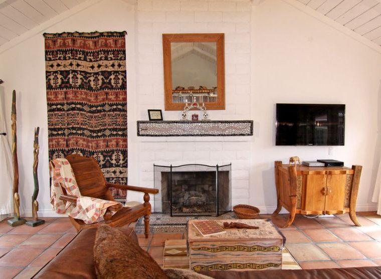 déco murale salon tapisserie-ambiance-naturelle-coin-lecture