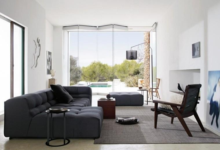 déco moderne canapes d'angle gris