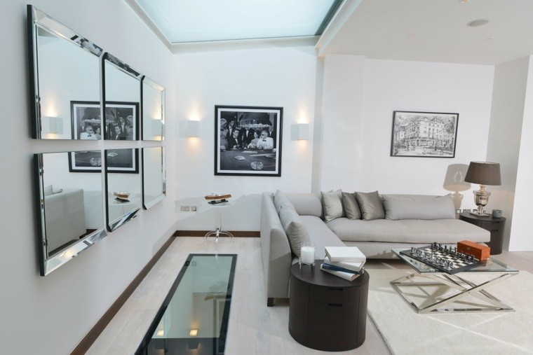 amenagement d'interieur moderne canape gris