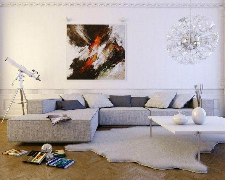 decoration meubles salon gris