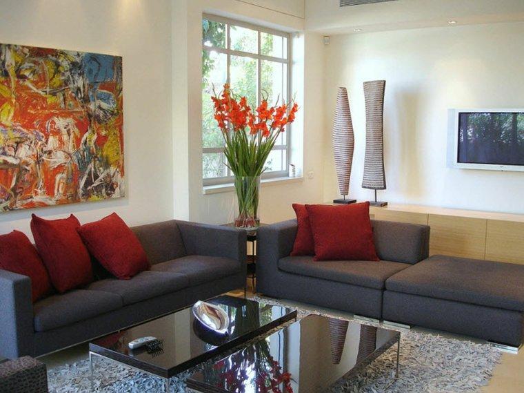 decoration interieur moderne salon avec canape gris
