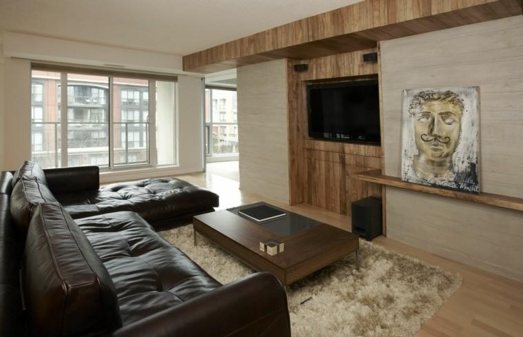 decoration murs salon moderne