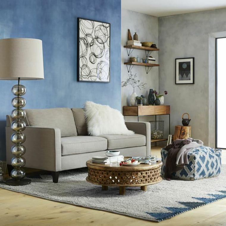 decoration salle de sejour canape gris