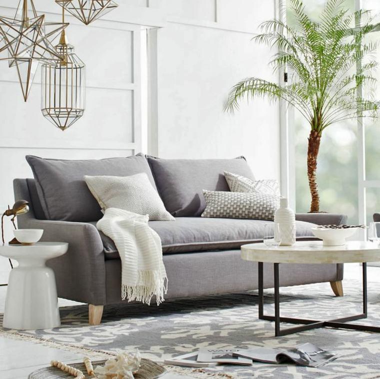decor moderne canapes gris