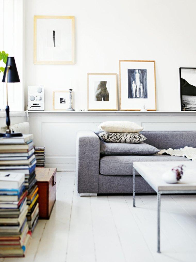design moderne salon canape gris