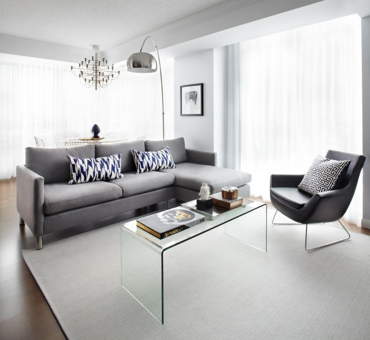 meubles gris decoration salle de séjour