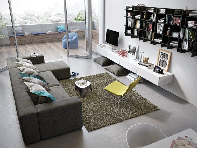 amenagement salon moderne canapé d'angle