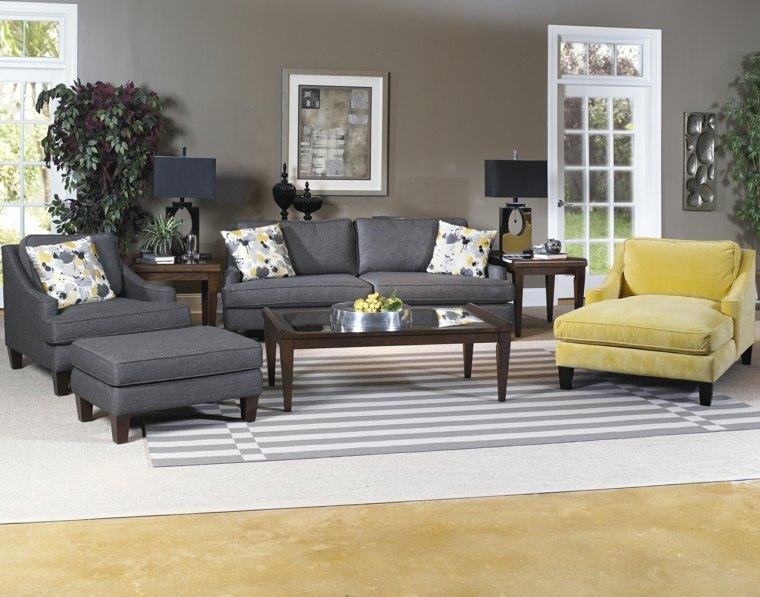 deco salon moderne couleur grise