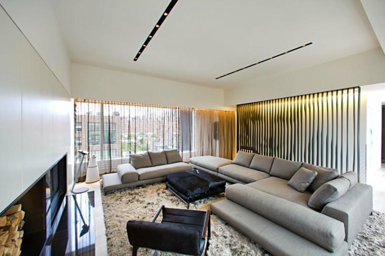 mobilier moderne salon couleur grise