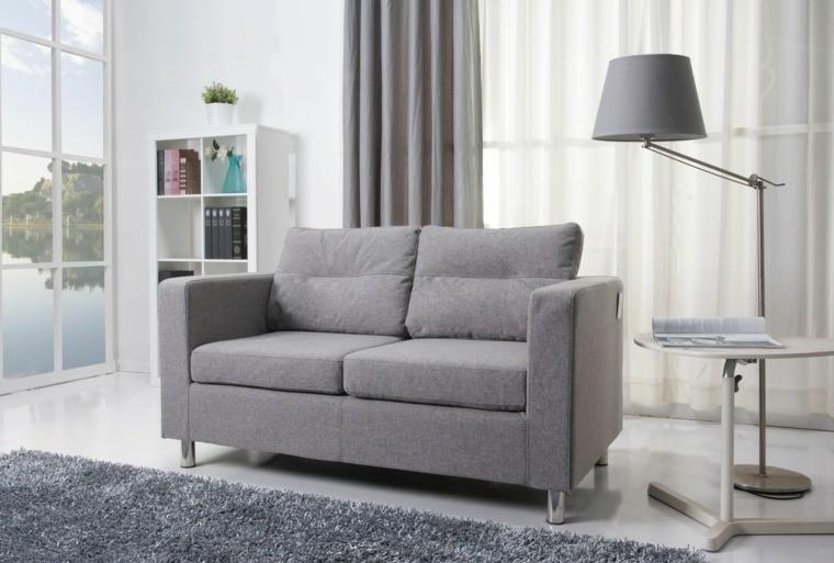 petit mobilier salon moderne gris