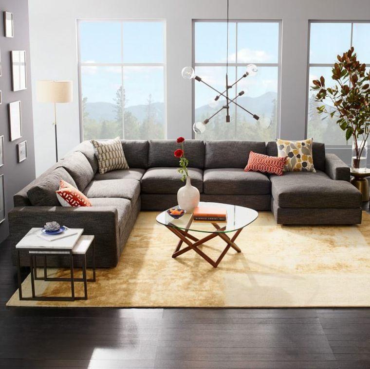 deco canape gris moderne