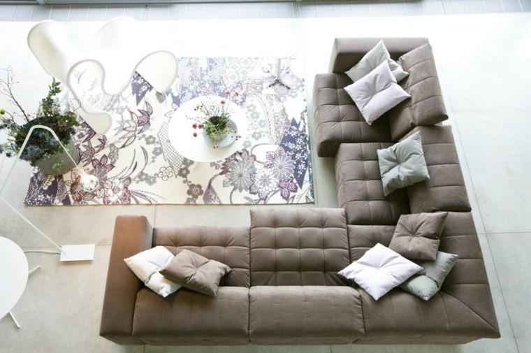 meuble salon moderne gris taupe