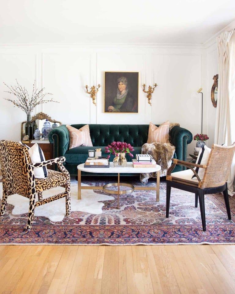 Déco salon avec tapis