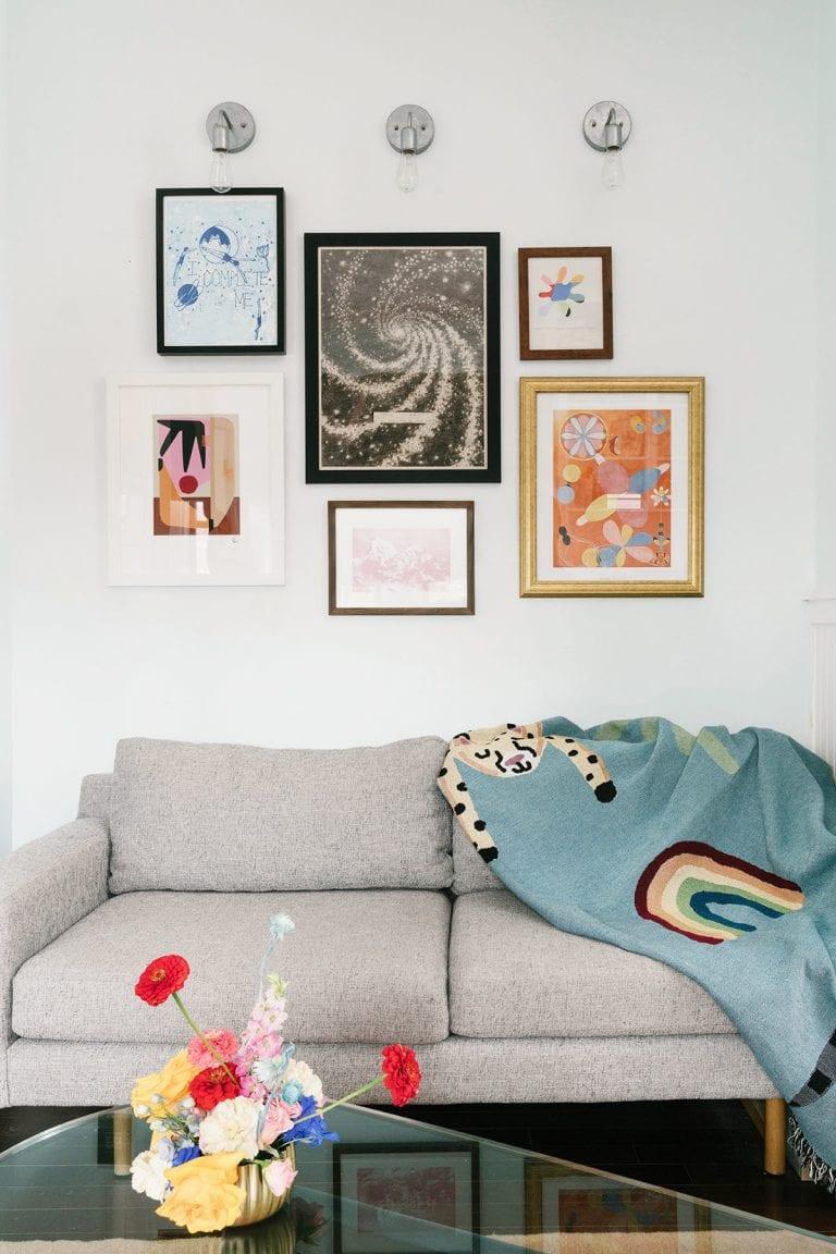 Décoration murale aec des tableau pour votre salon