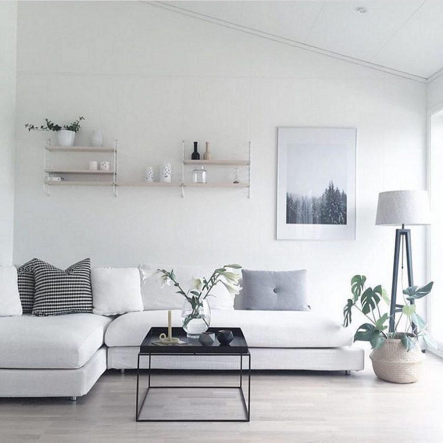 Idées minimalistes pour le salon - couleurs meubles et agencements