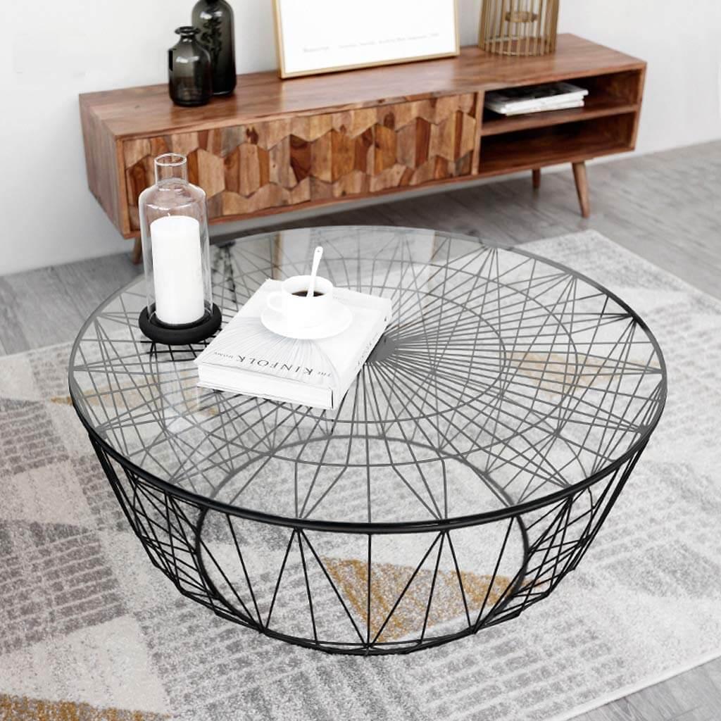 La table basse d'art moderne comme point focal