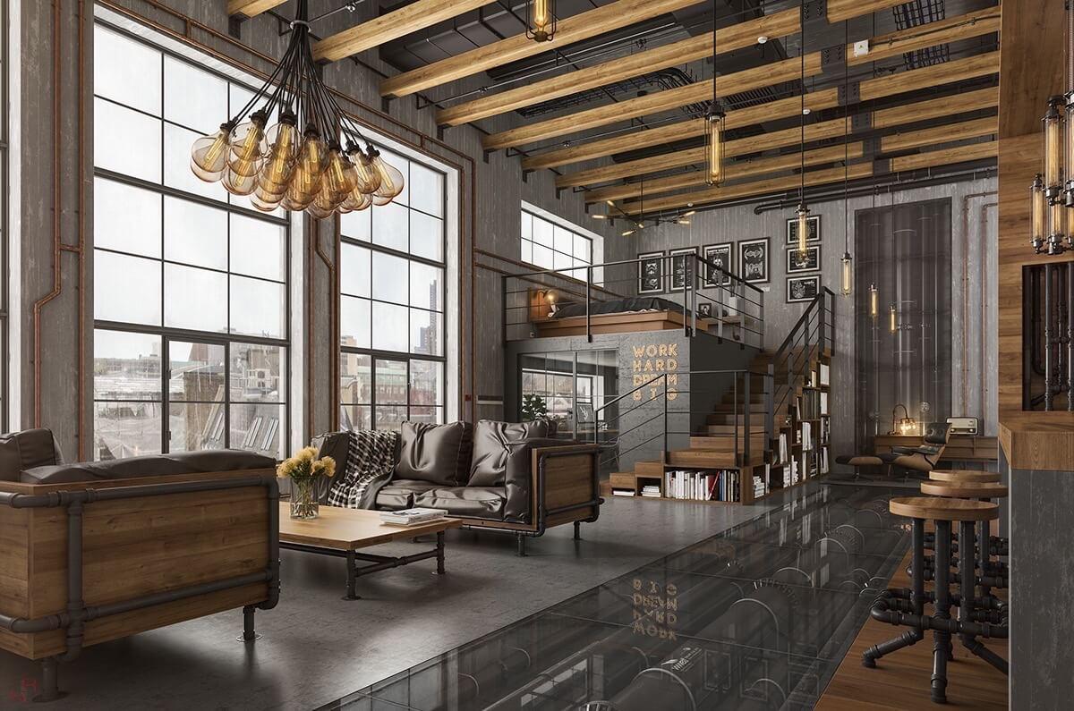 Matériaux de réemploi pour les meubles de salon industriels
