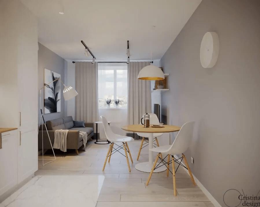 Décoration de Salon dans un appartement scandinave