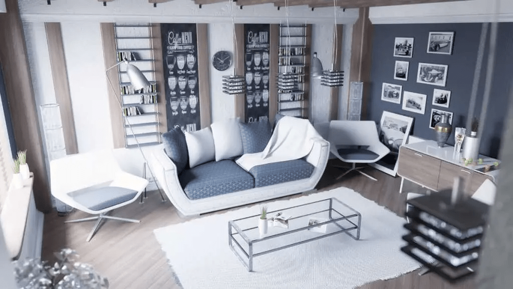 Design moderne des salons nordiques