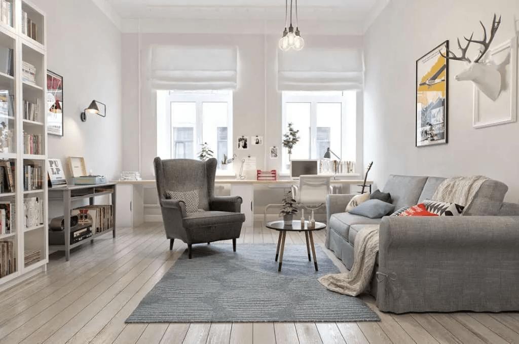 Intérieur distinct - Design de salon scandinave