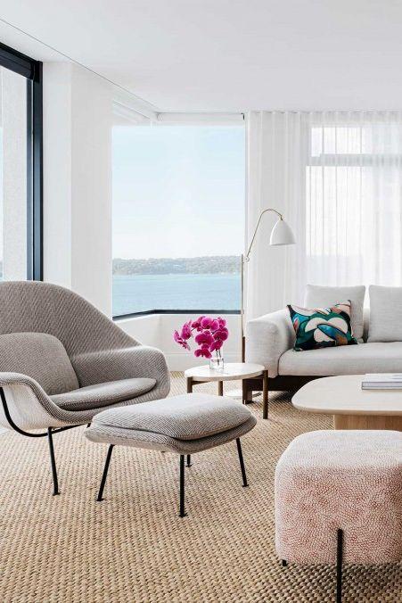 appartement lumineux et salon minimaliste