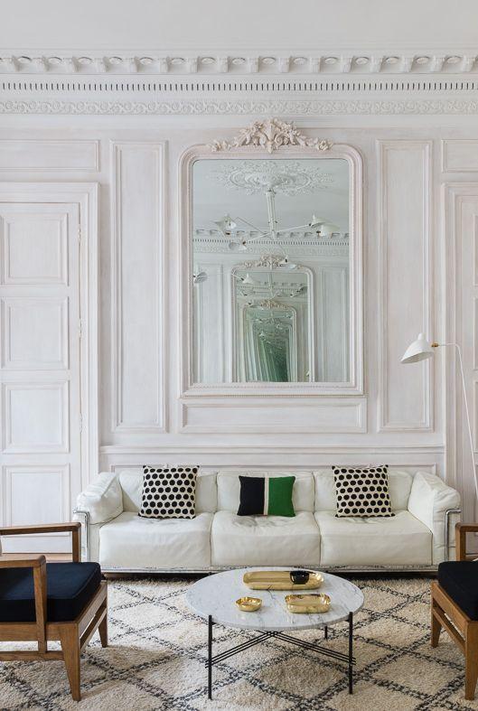 decoration de salon français monochrome