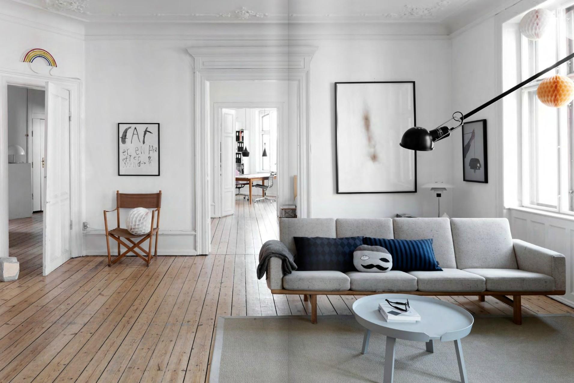 idée de décoration se salon pour interieur scandinave