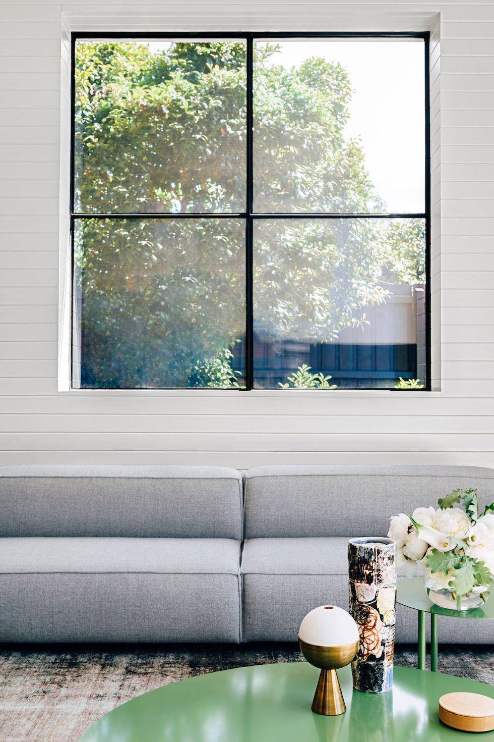 idée salon minimalise symétrique
