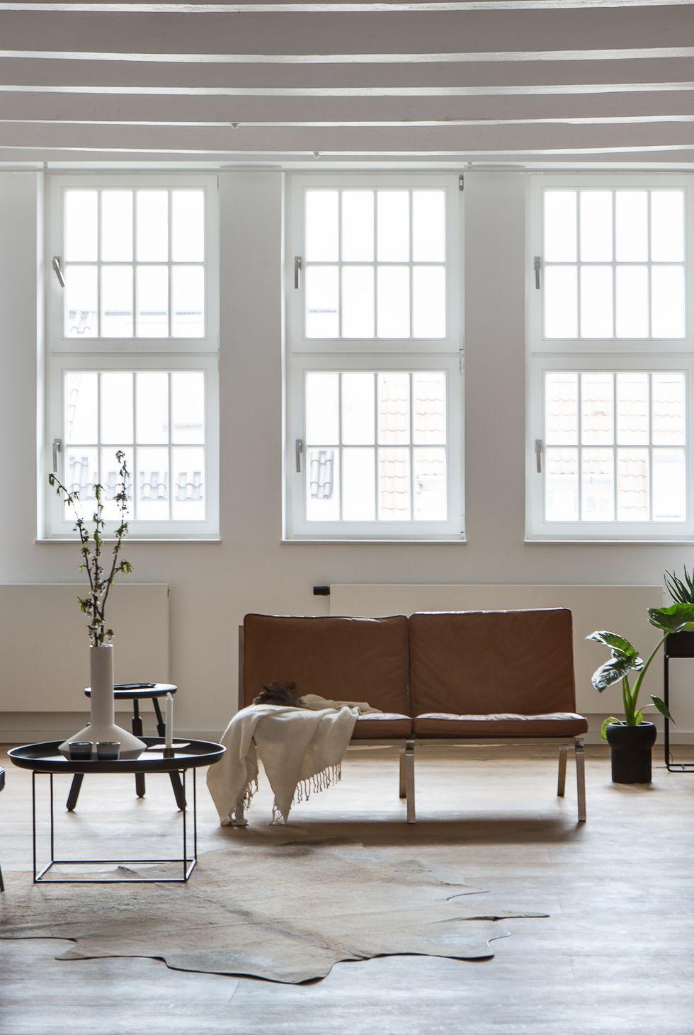 mobilier modeste de salon minimaliste