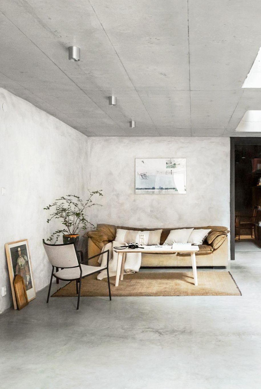 salon minimaliste bohème