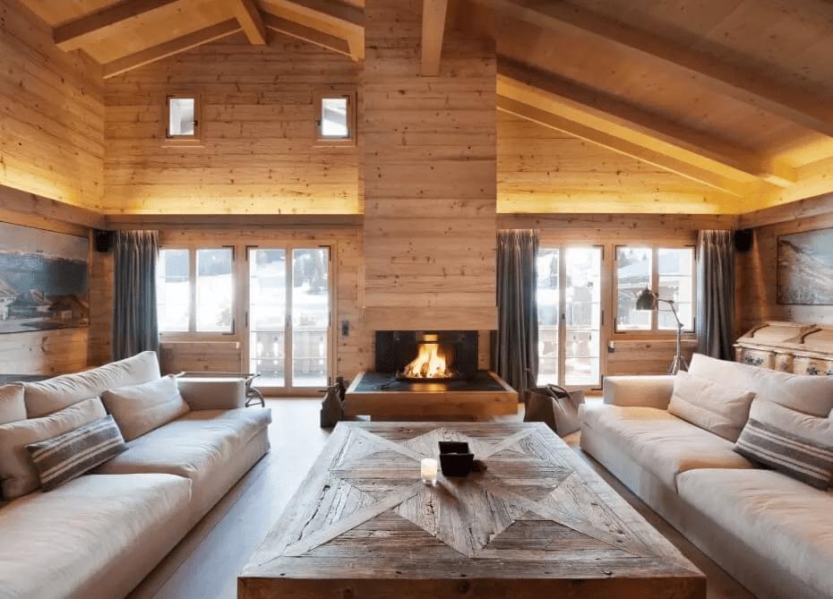 Luxueuse maison rustique en bois