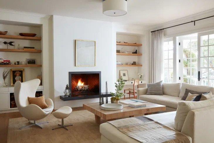 Salon minimaliste magnifiquement beige