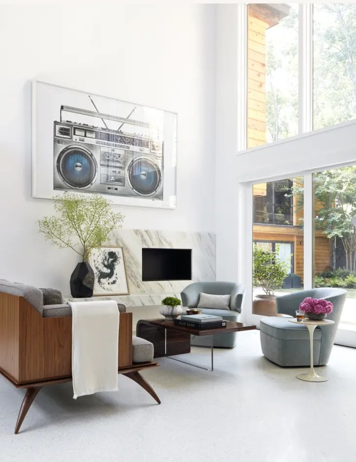 Un salon minimaliste simple et clair