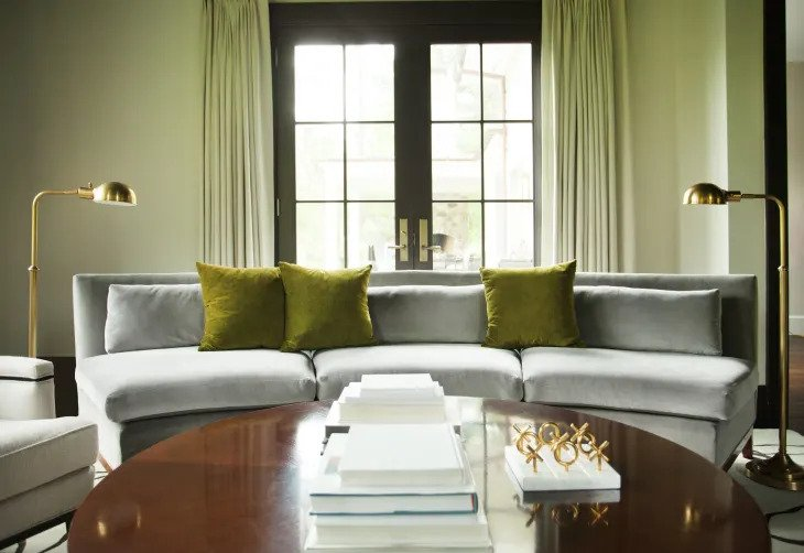 salon minimaliste en vert