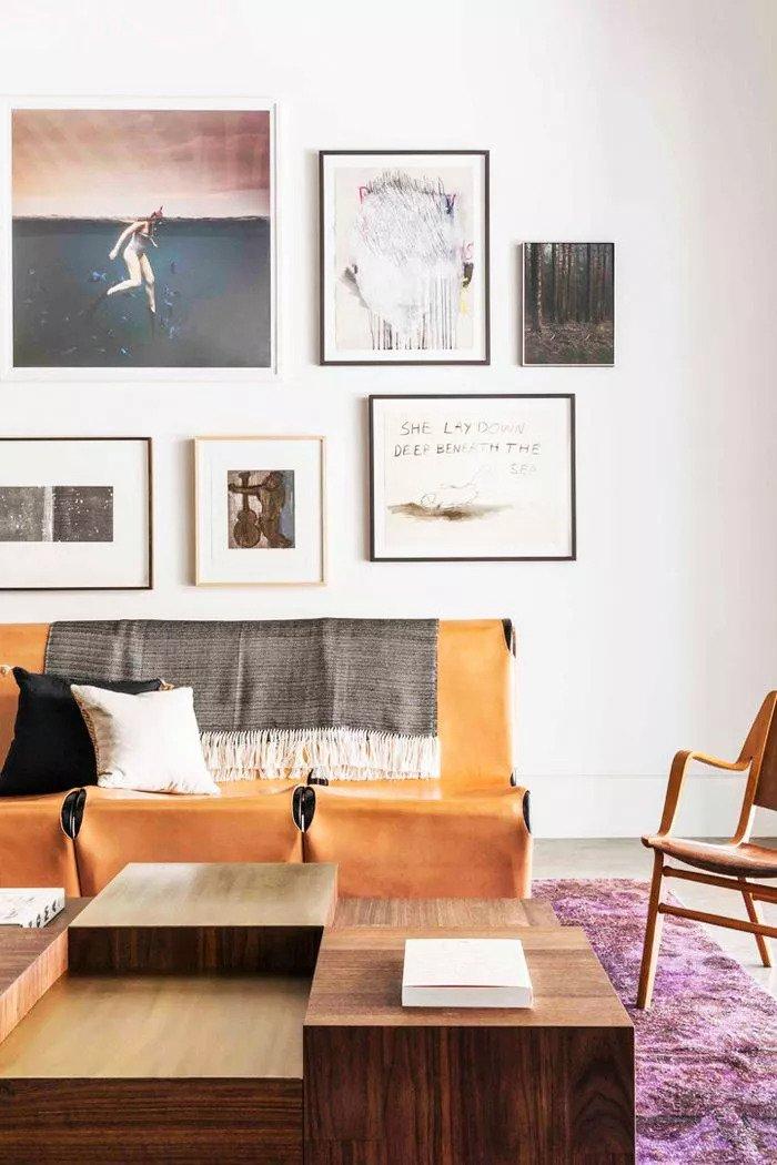 Une pièce de cuir léger crie au design contemporain
