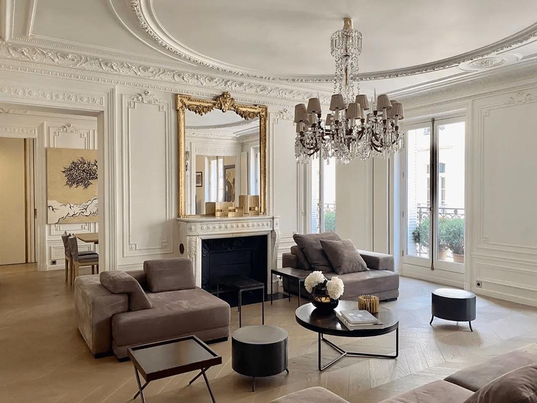 Salon français avec couche historique