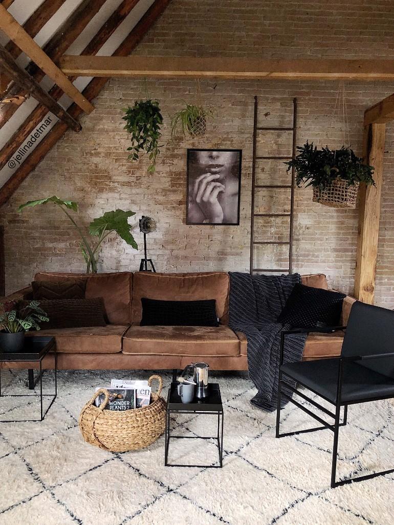 Idées de design de salon industriel et moderne