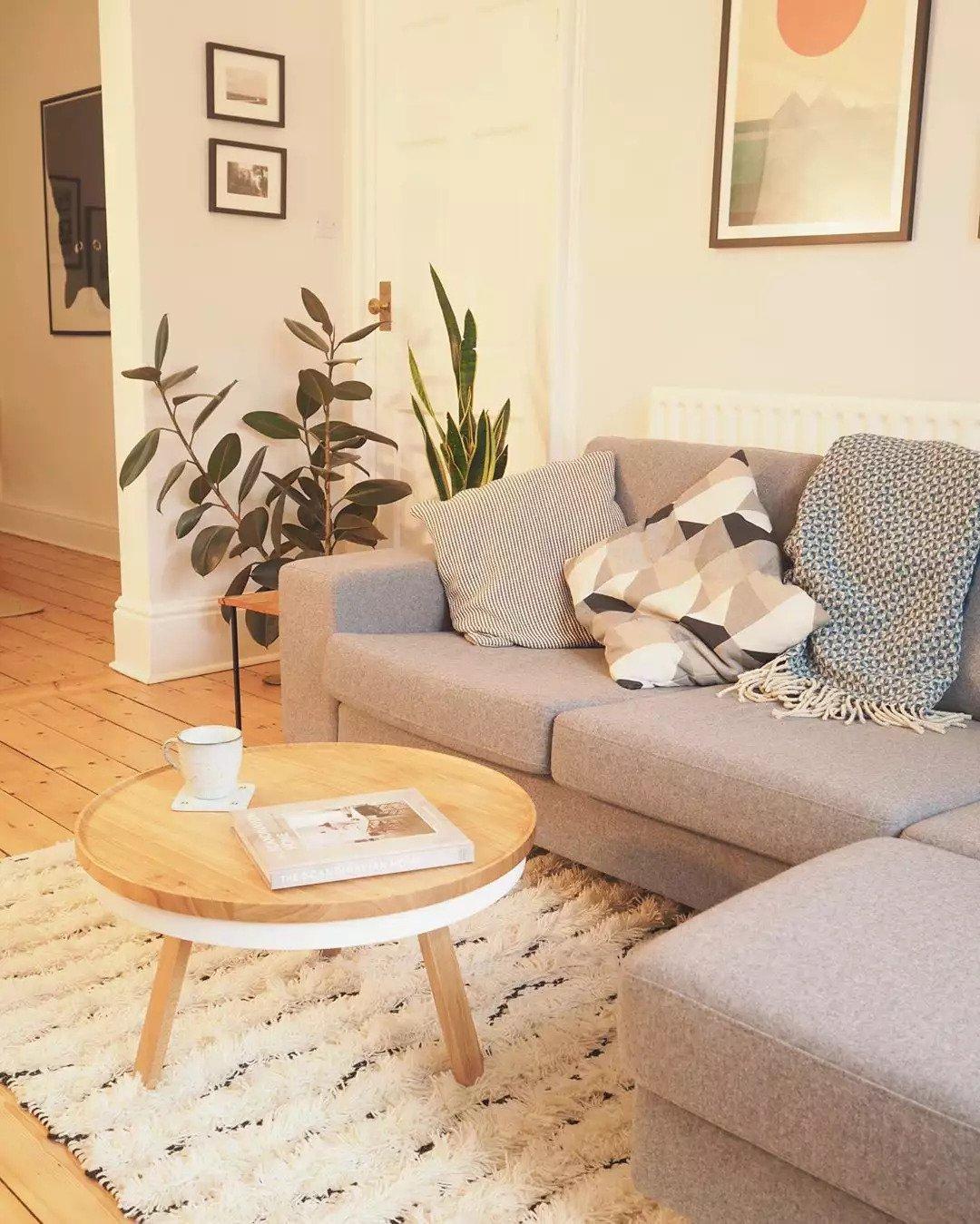 Salon scandinave - Ajouter des couches