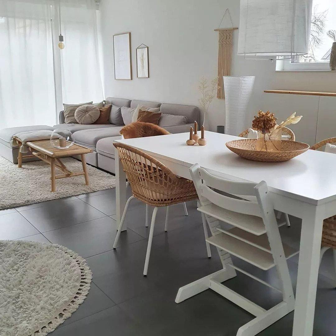 Salon scandinave - Mélanger les types de bois