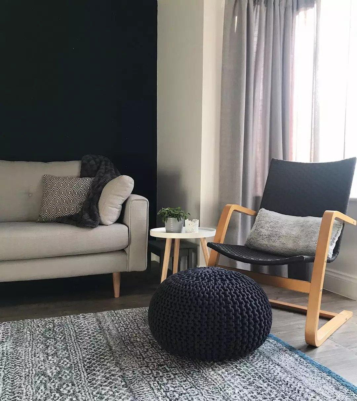 Salon scandinave - Une palette de couleurs sombres